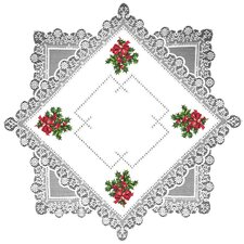 Boughs of Holly Table Topper