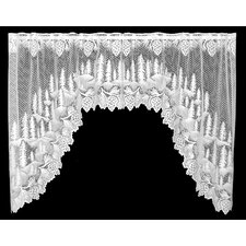 "Pinecone Swag 70"" Curtain Valance"
