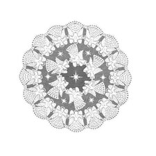<strong>Heritage Lace</strong> Glorious Angel Round Table Topper
