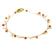 Gemstone Chain Link Bracelet