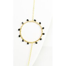 Metal Ring Onyx Pendant Necklace