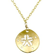 Metal Sand Dollar Pendant Necklace