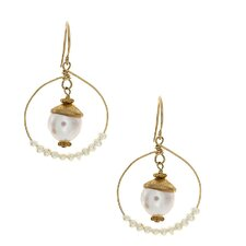 <strong>Rafia Jewelry</strong> Cultured Pearl Drop Earrings