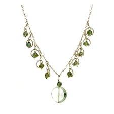 14k Gold Gemstone Necklace