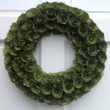 Wood Curl Wreath