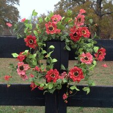 Elegant Zinnia Wreath