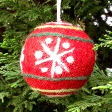 Felt Ball Snowflake Design