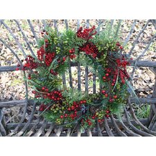 Aw Red Berry and Pine Wreath