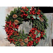 Aw Mixed Pine and Berry Wreath