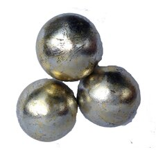 Burnished Sphere Decorative Ball (Set of 3)