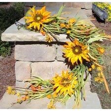Sunflower and Fall Grass Garland