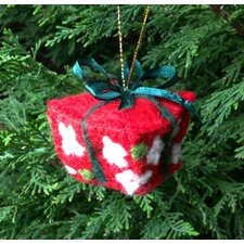Felt Red Package with Green Bow