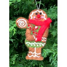 Felt Gingerbread Lady with Scarf