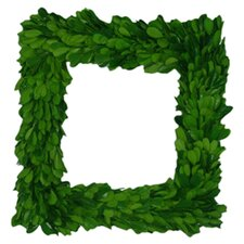 "Boxwood 11"" Square Wreath"