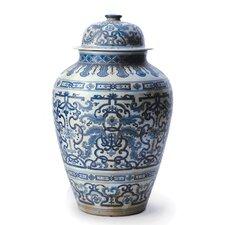 Large Floral Temple Jar