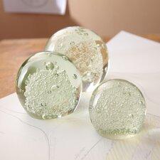 3 Piece Bubble Sphere Paperweight Set