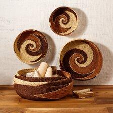 6 Piece Natura Handmade Shallow Paper Rope Basket Set