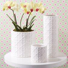 3 Piece Barzina Lattice Planters and Vase Set