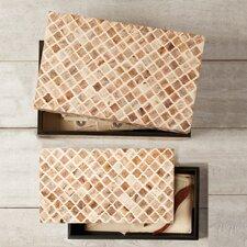 2 Piece Naturals Bone Mosaic Box Set