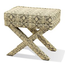 <strong>Two's Company</strong> Royal Python Fabric Bench