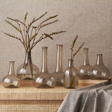 Champagne Vintage Decorative Bottle Vase (Set of 7)