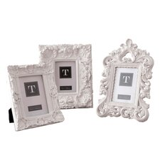 Assorted 4 x 6 Mod Ornate Photo Frames (Set of 3)