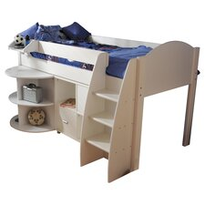 Rondo Single Mid Sleeper Bunk Bed with Cube Unit & Extending Desk