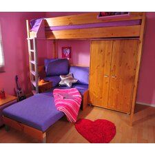 Casa High Sleeper with Sofa Bed and Wardrobe