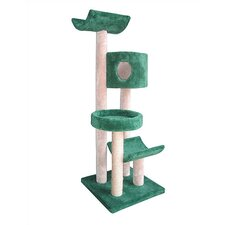 "<strong>Molly and Friends</strong> 66"" Condo, Bed and Cradles Cat Tree"