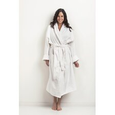 Velour Robe Shawl Collar