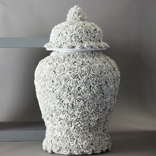Flower Covered Temple Decorative Urn