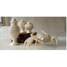 Zanzibar Marquetry Bone Covered Jar (Set of 3)
