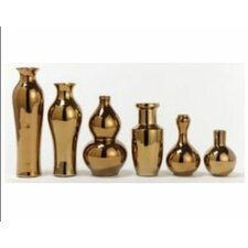 6 Piece Gold Rush Vase Set