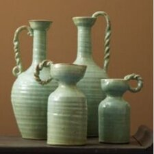 Globetrotter Celadon Pitcher Vases (Set of 4)