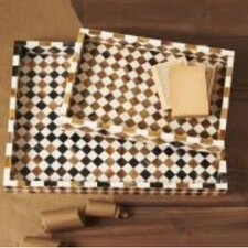 Zanzibar Diamond Mosaic Trays (Set of 2)