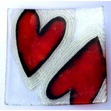 Heart Glass Plate