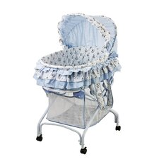 <strong>Dream On Me</strong> 2 in 1 Bassinet to Cradle in Light Blue