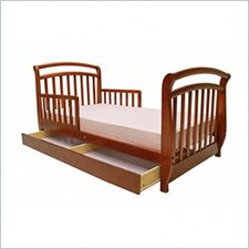 Deluxe Sleigh Toddler Bed with Drawer