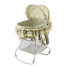 <strong>Dream On Me</strong> 2 in 1 Bassinet to Cradle in Green
