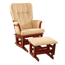 <strong>Dream On Me</strong> Windsor Padded Glider and Ottoman