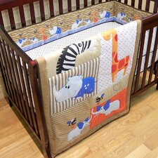 <strong>Dream On Me</strong> Jungle Babies  3 Piece Crib Bedding Set