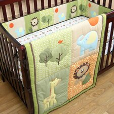<strong>Dream On Me</strong> Safari Animals 3 Piece Crib Bedding Set