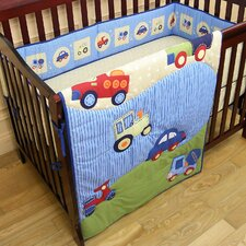 <strong>Dream On Me</strong> Travel Time 3 Piece Crib Bedding Set