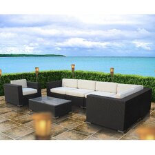 Crown 7 Piece Outdoor Patio Sectional Set