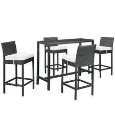 Portland 5 Piece Pub Dining Set with Cushions