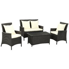 Flourish 4 Piece Deep Seating Group with Cushion