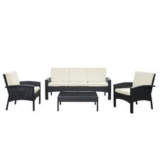 Brook 4 Piece Deep Seating Group with Cushion