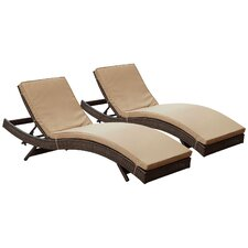 Peer Chaise Lounge with Cushion (Set of 2)