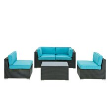 Camfora 5 Piece Deep Seating Group with Cushions