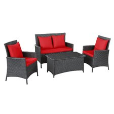 Flourish 4 Piece Seating Group with Cushions